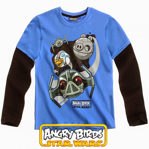 Детска блуза Angry Birds Star Wars